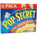 Pop Secret® Popcorn, Microwave, Movie Theater Butter, 3.5 Oz, 6/Box