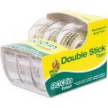 "Duck® Permanent Double-Stick Tape, 1/2"" x 300"", 1"" Core, Clear"
