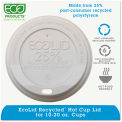 Eco-Products® Eco-Lid 25% Recycled Content Hot Cup Lid, Fits 10-20 oz Cups, 1000/Carton