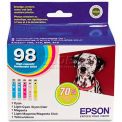 Epson® T098920 Ink Cartridge, 450 Page Yield, Assorted, 5/Pack
