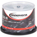 Innovera 77950 CD-R Discs, 700MB/80min, 52x, Spindle, Silver, 50/Pack