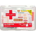 Johnson & Johnson Red Cross 110300900 All Purpose First Aid Kit, 140 Pieces, Plastic Case