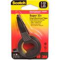 """Scotch® Super 33+ Vinyl Electrical Tape w/Dispenser, 1/2"""" x 200"""" Roll, Black"""