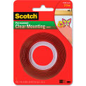 """Scotch® Double-Sided Mounting Tape, Industrial Strength, 1"""" x 60"""", Clear/Red Liner"""