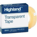 """Highland™ Transparent Tape, 1/2"""" x 1296"""", 1"""" Core, Clear"""