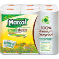 Marcal Small Steps 100% Recycled Towels, 6 Rolls/Pack - MRC6181CT