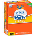 Hefty® Strong Tall Kitchen Drawstring Trash Bags - White, 13 Gal, 0.9 Mil, 90/Box - E83690