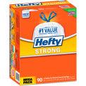 Hefty® Strong Tall Kitchen Drawstring Trash Bags - White, 13 Gal, 0.9 Mil, 90/Box - E83690