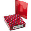 "Smead® Poly Report Cover, Tang Clip, Letter, 1/2"" Capacity, Clear/Red, 25/Box"