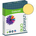 Universal One® Colored Paper, 20lb, 8-1/2 x 11, Goldenrod, 500 Sheets/Ream