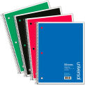 Universal® Wirebound Notebook, 8-1/2 x 11, College Ruled, 100 Sheets, Assorted Color Cover