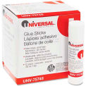 Universal Permanent Glue Stick, .28 oz, Stick, Clear, 12/Pack