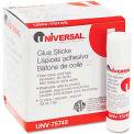 Universal Permanent Glue Stick, .28 oz, Stick, Clear, 12/Pack