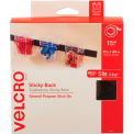 VELCRO® Brand Sticky-Back Hook and Loop Fastener Tape with Dispenser, 3/4 x 15 ft. Roll, Black