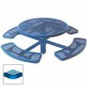 "46"" Single Pedestal Round Table, Inground, Expanded Metal 78""W x 78""D - Blue"