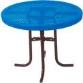 "30"" High Food Court Round Table, Diamond 36""Diameter - Blue"