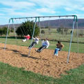 8' Double Bay Swing Frames With 2 Strap & 2 Tot Seats - Green