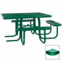 "3-Seat, 46"" ADA Square Table, Diamond 78""W x 72""D - Green"