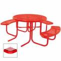 "3-Seat, 46"" ADA Round Table, Diamond 80""W x 63""D - Red"