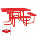 """3-Seat, 46"""" ADA Square Table, Diamond 78""""W x 72""""D - Red"""