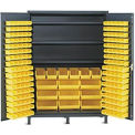 Vari-Tuff Extra Wide Storage Cabinet - 60x24x84 185 Bins 3 Shelves