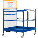 "Work Platform - Single Side Door Entry with Casters - 48""W x 48""L"