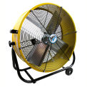 "MaxxAir™ 24"" Tilt Heavy Duty Roll-Around Tilt Portable Barrel Fan BF24TFYEL 4000 CFM"