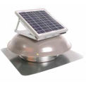 Ventamatic® VX1000SOLDOMMIL Solar Roof Attic Vent With Dome-Mounted Panel, Mill