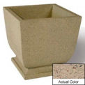 Wausau SL450 Square Outdoor Planter - Weatherstone Gray 24x24x30