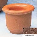 Wausau TF4045 Round Outdoor Planter - Weatherstone Brown 18x12