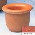Wausau TF4045 Round Outdoor Planter - Weatherstone Brick Red 18x12