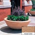 Wausau TF4144 Round Outdoor Planter - Weatherstone Sand 48x18