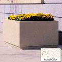 Wausau TF4200 Square Outdoor Planter - Weatherstone White 48x48x30