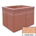 Wausau TF4202 Rectangular Outdoor Planter - Weatherstone Cream 48x36x36