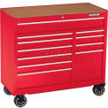 Waterloo WCA-4111RD-L11-Drawer Cabinet w/ Drawer Liners - Red