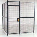 """RapidWire™ Welded Wire, 2 Sided Cage w/3' Hinged Door, No Ceiling 8' 4"""" x 8' 6"""" x 8' 5-1/4""""H"""
