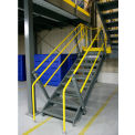 """Wildeck® OSHA Stair Closed Tread With Open Riser 36"""" Wide,  10' Clearance"""