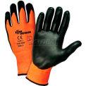 Zone Defense™ Orange HPPE Shell Cut Resistant Gloves, Black Nitrile Palm Coat, 2XL - Pkg Qty 12