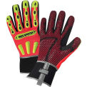 R2 Safety Rigger Gloves 86712/XL, With Long Neoprene Cuff - Orange, XL - Pkg Qty 6