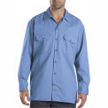 Dickies® Men's Long Sleeve Work Shirt, 2X Gulf Blue - 574GB