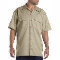 Dickies® Men's Short Sleeve Work Shirt, M Khaki - 1574KH