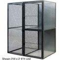 """Husky Rack & Wire Tenant Locker Double Tier Starter Unit  4' W x 5' D x 7'-6"""" Tall W/Ceiling"""