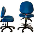 "WSI 1000 Series Chair 1000-ECR-BK, ESD Clean-Room Vinyl, Nylon Base, 18""-23""H, Black"