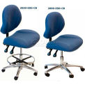 "WSI 2000 Series Chair 2000-CB-ESD-BL, ESD Fabric, Chrome Base, 18""-23""H, Blue"