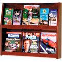 6 Magazine/12 Brochure Wall Display - Mahogany