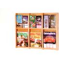 6 Magazine/12 Brochure Oak & Acrylic Wall Display - Light Oak