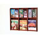 6 Magazine/12 Brochure Oak & Acrylic Wall Display - Mahogany