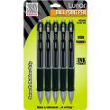 Zebra Lunar® Retractable Ballpoint Pen, 1.0mm, Black Ink, 5/Pack - Pkg Qty 6