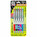 Zebra Z-Grip® Flight Retractable Ballpoint Pen, 1.2mm, Assorted Ink, 5/Pack - Pkg Qty 6