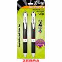 Zebra Z-Grip Z-Quad® Retractable Ballpoint Pen, 1.0mm, Assorted Ink, 2/Pack - Pkg Qty 6